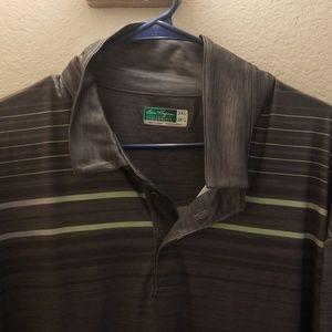 Mens Gray Ben Hogan performance golf shirt